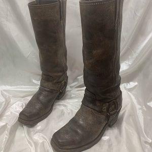 Frye Harness Cowboy Boots
